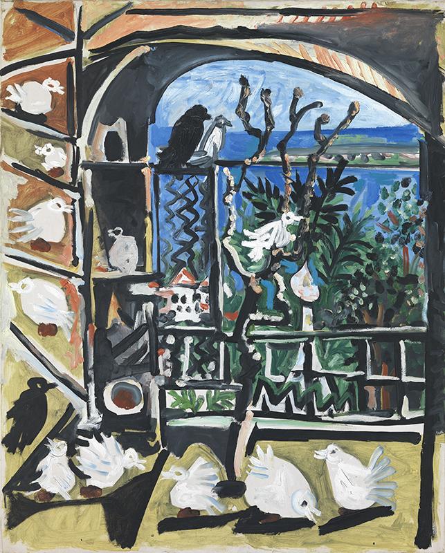 Pablo Picasso. Els colomins. Canes, 6 de setembre del 1957. Museu Picasso, Barcelona.