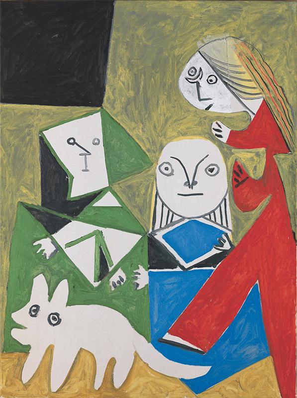 Pablo Picasso. Las Meninas (Isabel de Velasco, María Bárbola y Nicolasito Pertusato). Cannes, 24 de octubre de 1957. Museu Picasso, Barcelona.