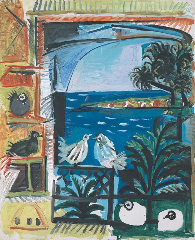 Pablo Picasso. Los pichones. Cannes, 12 de septiembre del 1957. Museu Picasso, Barcelona.