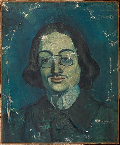 """Pablo Picasso. """"Retrato azul de Jaume Sabartés"""". 1901. Museu Picasso, Barcelona."""