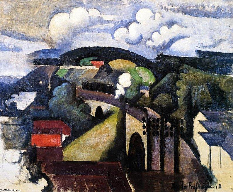 """Roger De La Fresnaye, """"El Meulan Viaducto"""", 1912. El Cubismo"""