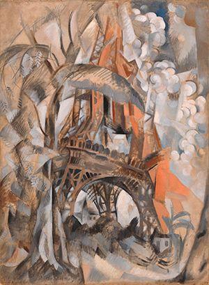 Robert Delaunay, Torre Eiffel con árboles (Tour Eiffel aux arbres), verano de 1910. El Cubismo