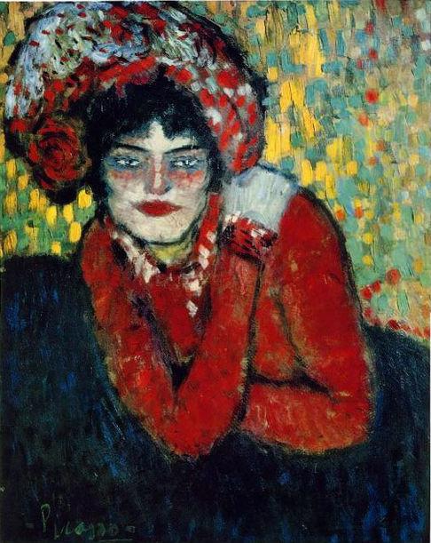"""Picasso, """"Margot"""" o """"La espera"""" (¿Louise Lenoir?), 1900."""