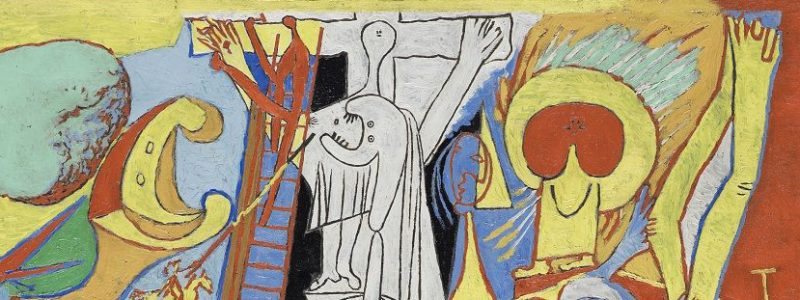 Picasso, detalle crucifixión cubista, 1930