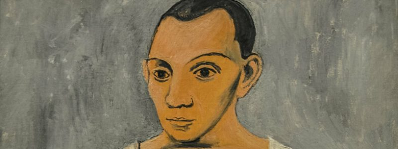 Pablo Picasso - Self Portrait with Palette, 1906 at the Museum of Art Philadelphia PA
